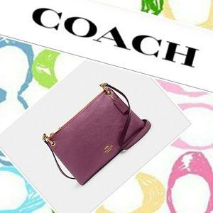 HP🏆 NWT Coach Metallic Berry Mia Crossbody